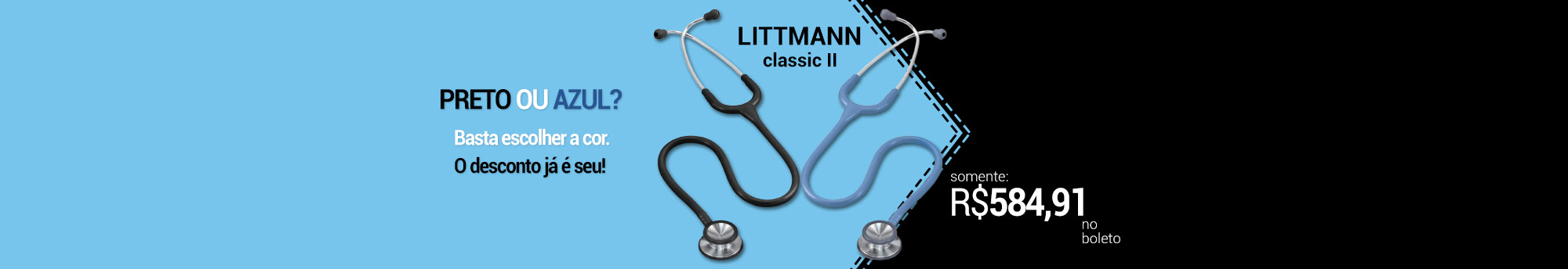 Banner Home - Littmann Preto e Azul