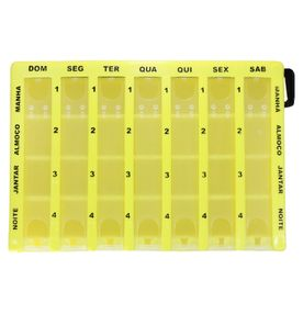 Porta-Comprimidos-Serraplast-Amarelo-Hora-Certa