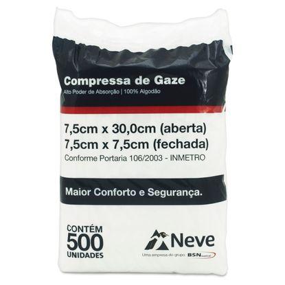 Compressa-de-Gaze-Neve-13-Fios-75-x-75cm-com-500-unidades