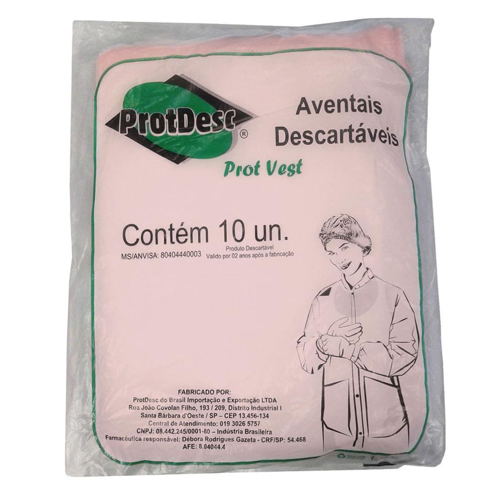 2472083e3afff Avental de Procedimento Protdesc PP40 Rosa Descartável Manga Curta com 10  un. - FibraCirurgica
