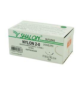 Fio-para-Sutura-Shalon-Nylon-2-0-Com-Agulha-Triangular-de-20cm-e-38