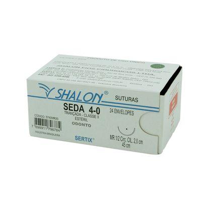 Fio-para-Sutura-Shalon-Seda-4-0-Com-Agulha-Cilindrica-de-20cm-e-12