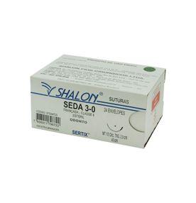 Fio-para-Sutura-Shalon-Seda-3-0-Com-Agulha-Cilindrica-de-20cm-e-12