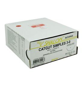 Fio-para-Sutura-Shaldon-CatGut-Simples-3-0-Com-Agulha-Circular-de-30cm-e-12