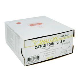 Fio-para-Sutura-Shaldon-CatGut-Simples-0-Com-Agulha-Circular-de-30cm-e-38