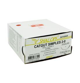 Fio-para-Sutura-Shaldon-CatGut-Simples-2-0-Com-Agulha-Circular-de-30cm-e-38