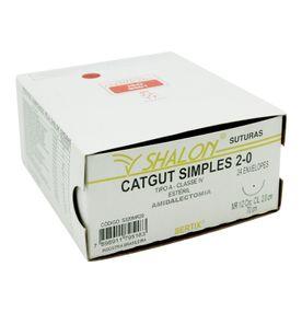 Fio-para-Sutura-Shaldon-CatGut-Simples-2-0-Com-Agulha-Circular-de-20cm-e-12