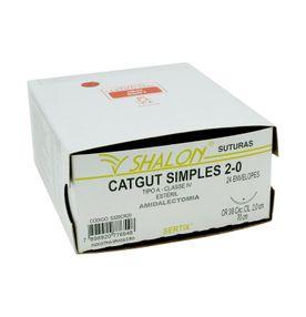 Fio-para-Sutura-Shaldon-CatGut-Simples-2-0-Com-Agulha-Circular-de-20cm-e-38