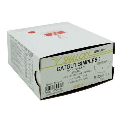 Fio-para-Sutura-Shaldon-CatGut-Simples-1-Com-Agulha-Circular-de-40cm-e-12