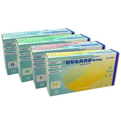 3eb5e7d21ab14 Luva Procedimento Nitrílica Nugard Azul não Estéril Sem Pó 100un -  FibraCirurgica