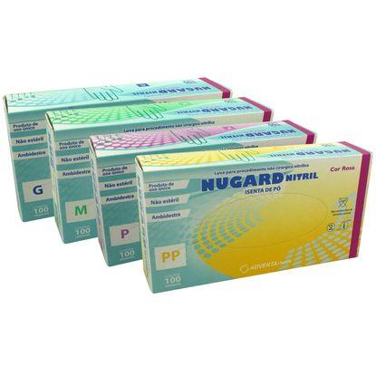 Luva Procedimento Nitrílica Nugard Rosa não Estéril Sem Pó 100un -  FibraCirurgica 9171630330