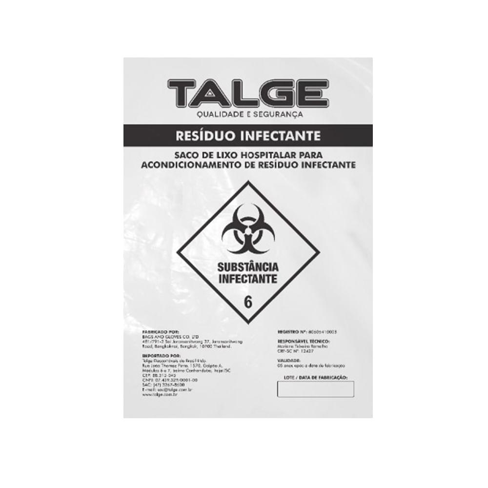 Saco de Lixo Hospitalar Talge 50L - FibraCirurgica 253367fe30