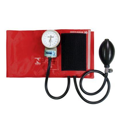 Aparelho-de-Pressao-P.A-Med-Adulto-Nylon-Velcro-Vermelho-PA2020