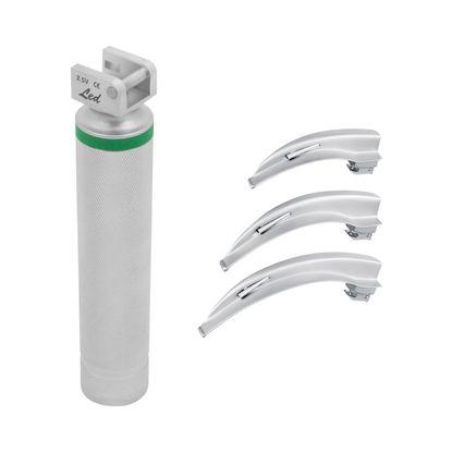 Kit-Laringoscopio-LED-MD-Adulto-com-3-Laminas-Macintosh-Curva