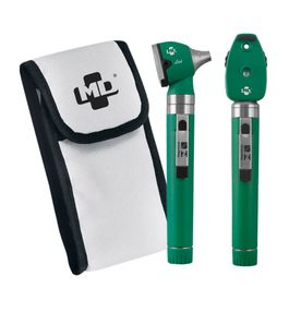 Kit-Otoscopio-e-Oftalmoscopio-MD-Omni-3000-LED-Verde-com-Estojo-Macio