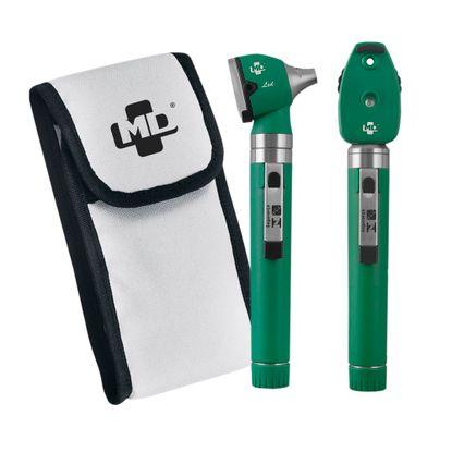 Kit-Otoscopio-e-Oftalmoscopio-MD-Omni-3000-LED-Verde-com-Estojo-Macio