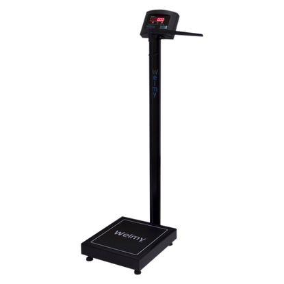 Balanca-Digital-Adulto-Welmy-200Kg-W-200-50-Preta-com-Regua-Antropometrica-e-Tela-LED