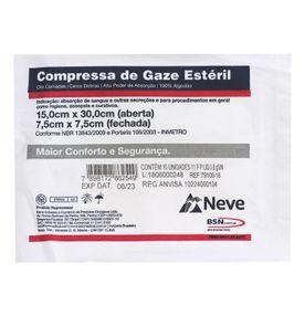 Compressa-de-Gaze-Neve-Esteril-11-Fios-75-x-75cm-com-10-unidades