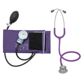 Kit-Enfermagem-Esteto-Spirit-Pro-lite-Violeta---Aparelho-de-Pressao-P.A.Med-Adulto-Nylon-Velcro-Roxo