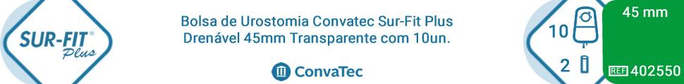 Bolsa de Urostomia Convatec Sur-Fit Plus Drenável 45mm Transparente com 10un