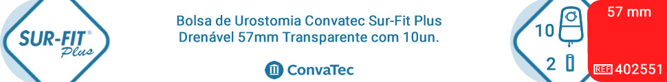 Bolsa de Urostomia Convatec Sur-Fit Plus Drenável 57mm Transparente com 10un