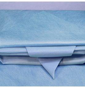 Wraps-para-Esterilizacao-PolarFix-Pesado-50gr-75cm-x-75cm-Azul-com-50un.