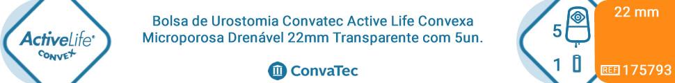 Bolsa de Urostomia Convatec Active Life Convexa Microporosa Drenável 22mm Transparente com 5un