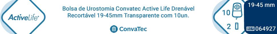 Bolsa de Urostomia Convatec Active Life Drenável Recortável 19-45mm Transparente com 10un