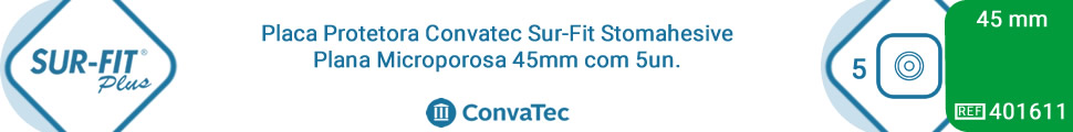Placa Protetora Convatec Sur-Fit Stomahesive Plana Microporosa 45mm com 5un