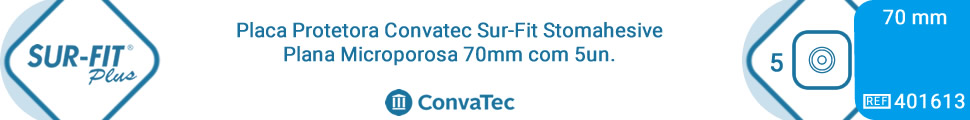 Placa Protetora Convatec Sur-Fit Stomahesive Plana Microporosa 70mm com 5un