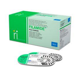 Fio-para-Sutura-Meril-Filamide-Nylon-3-0-com-Agulha-Triangular-de-19cm-e-3-8