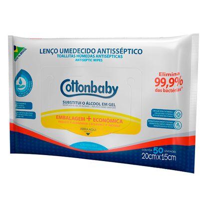 Lenco-Umedecido-com-Clorexidina-Cottonbaby-Antisseptico-com-50un.