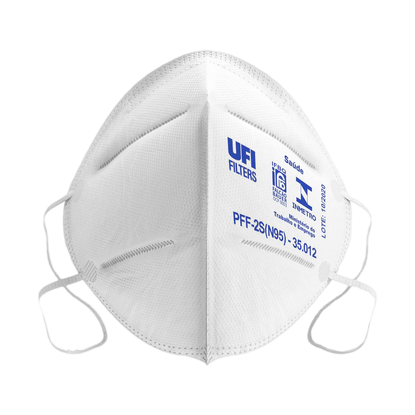 Mascara-Respirador-Descartavel-Dobravel-sem-Valvula-PFF2-S-N95-Branca-1un.-UFI