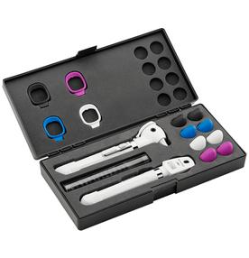 Kit-Otoscopio-e-Oftalmoscopio-Pocket-Plus-LED-Set-Branco-Welch-Allyn